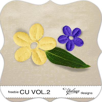 Purple & Yellow Paper Flowers YalanaDesign_CU_vol2_freebie+(3)